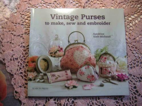 boek: Vintage Purses, makin, sew and embroider, vintage zelf