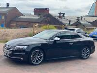 AUDI S5 QUATTRO V6 3.0 TFSI AUTO COUPE BLACK 2 OWNERS CAT N ONLY 7K HIGH SPEC