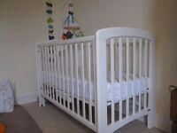 John Lewis cot and changing table