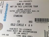 Guns n Roses Slane Castle !! Sold Out !! Gold Circle A !!Up Front!!Slash's Side of Stage!!Tickets x2