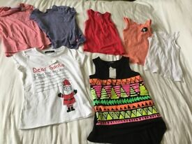 Girls summer clothes bundle new from f&f and george, tshirts tos 7 items.