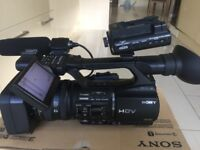 SONY HVR-Z5 CAMCORDER WITH SONY HVR-DR60 HARD DRIVE RECORDER