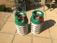 2 x BP Gaslight gas light 10kg patio gas / propane gas bottle