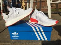 White and Red NMD R2 PrimeKnit - UK Size 11