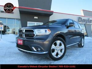 2015 Dodge Durango LIMITED 4WD W/ DUAL BLUE-RAY DVD