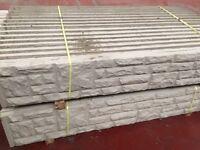 Concrete fence post, base panels, gravel boards, fence panels
