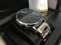 New Swiss IWC Schaffhausen Stainless Steel CHRONOGRAPH Watch