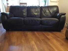 Leather sofa bed/settee