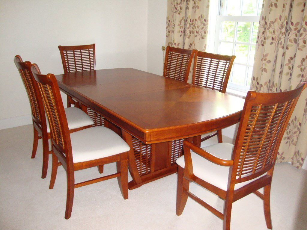 Cherry Wood Dining Table And 6 Chairs In Ipswich