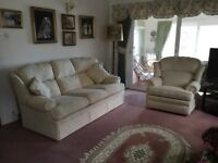 Marks & Spencer's Cream 3 seater sofa and 3 armchairs