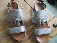 Silver leather sandals by Jones- offers considered
