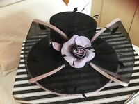 Condici Lilac & Black Wedding Hat