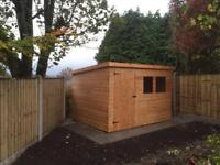10x6 PENT ROOF GARDEN SHEDS (HIGH QUALITY) £589.00 ANY SIZE (FREE DELIVERY AND INSTALLATION)