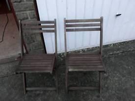 chairs folding x 2