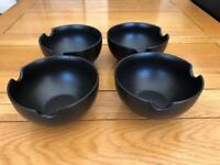 4x brown cereal bowls