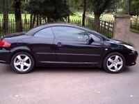 2008 Peugeot 307 ccs Convertible Sport 1.9 black Mot to July 2019