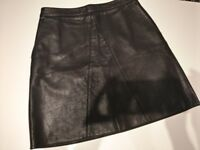 Leather skirt, size 10