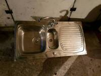 Stainless steel 1.5 sink