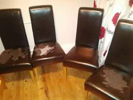 4 leather chairs - need reupholstery