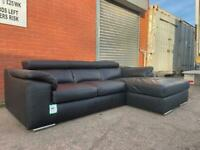 PENDING!!! Beautiful black leather corner sofa EXDISPLAY delivery 🚚 sofa suite couch furniture