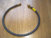 GAS COOKER RUBBER HOSE PIPE BAYONET FITTING 1.2 M LONG