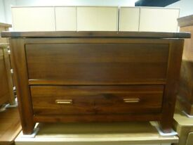 Solid Acacia Wood Blanket Box/Chest with Drawer