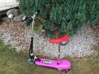 Blue and Pink E scooters