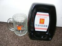 Vintage Courage Tavern Wade Ceramic Ashtray & Courage Tavern Glass. for sale  Plymouth, Devon
