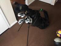 Set of Golf Clubs and Nike Bag