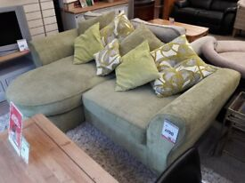 Lime Green L-Shaped Sofa