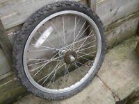 "JOB LOT of 4 (3 are NEW) BMX wheels - 20"" wheel shopper"