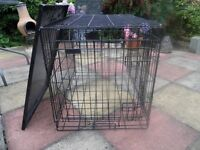 dog cage medium size complete with tray