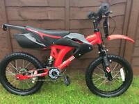 Red and black moto motorbike style bike