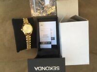 Ladies Sekonda Gold Plated Bracelet Watch-Worn twice-Only £15