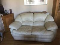 Cream leather chairs