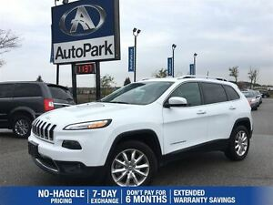 2016 Jeep Cherokee Limited | Heated Leather | Remote Start | Rea