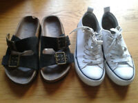 Two pairs of shoes, size 4 UK, 37 eur