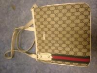 GUCCI MESSENGER BAG IN LIGHT BROWN AND CREAM LEATHER STRAP (UNISEX) OFFERS