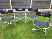 4 folding aluminium camping directors chair caravan bbq