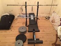 Bench and weights 95kg