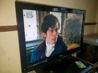 24 inch LCD Logik tv. Full hd. 1080p. Built in freeview. Usb. No remote