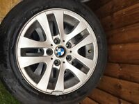 Bmw 3 series 4 alloy wheels with tyres and 2 spare tyres