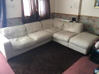 large leather corner sofa good condtion collection only 70 ono