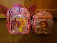 Disney store Princess Sofia rucksack and lunch bag