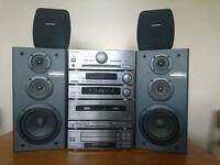 Pioneer A-P510 hi-fi system with 4 surround speakers