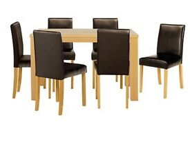 Brand New Oak Dining Table with 6 Chairs