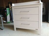Mamas and Papas chest of drawers with baby changing top