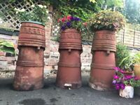Reclaimed Victorian Large Chimney Pots - Ideal for planting as Flowerpots in garden