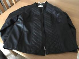 Leather look jacket size 22 NEW with tags