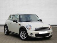 3M GOLD WARRANTY,2012 MINI HATCH 1.6 ONE (PEPPER), PETROL,MANUAL,WHITE,ALLOYS,PARKING SNSRS,HPI CLR